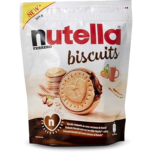 Nutella Biscuits - Una deliciosa galleta crujiente con toda la cremosidad y el sabor único de Nutella!: Amazon.es: Alimentación y bebidas