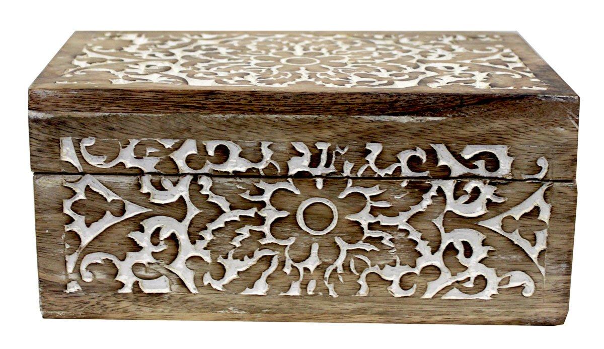Caja de madera marquetería H12 x 26 x 15: Amazon.es: Hogar