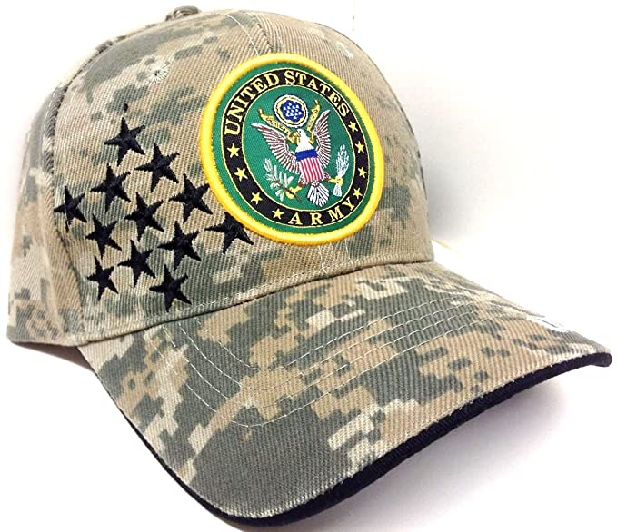 b5b851d9109 Image Unavailable. Image not available for. Color  United States Army Seal Logo  Digital Camo Hat with Stars