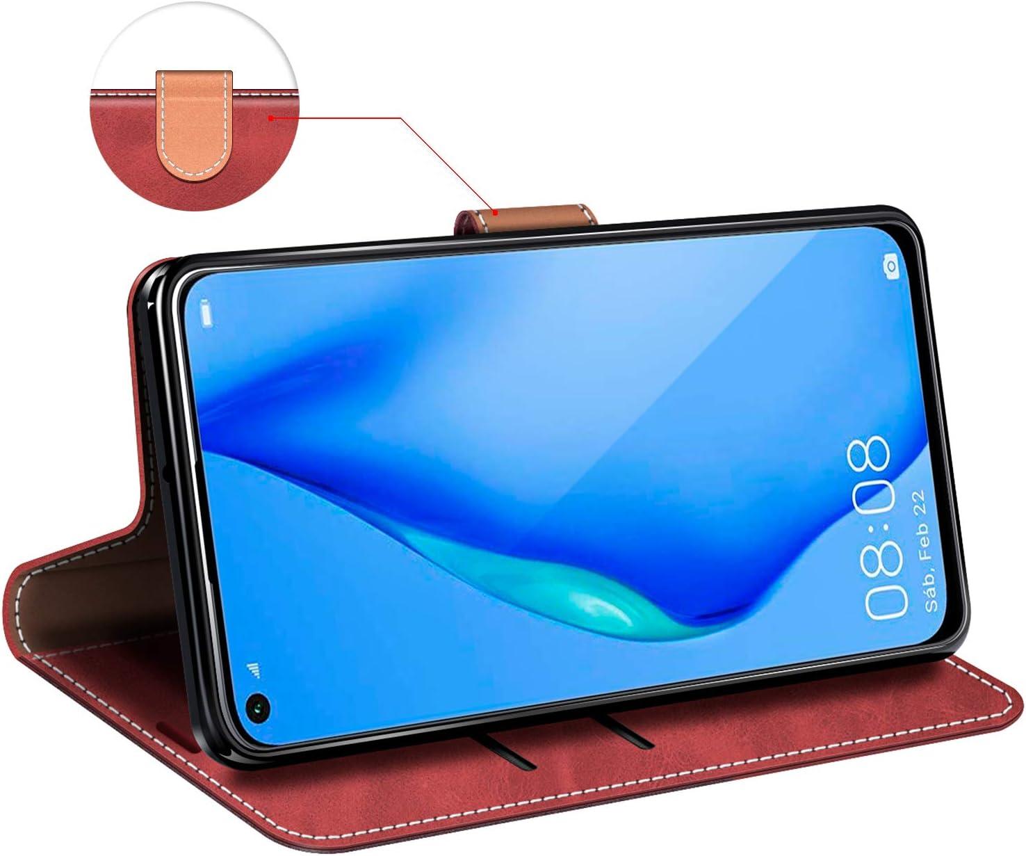 Funda Libro Huawei P40 Funda M/óvil Huawei P40 Magn/ético Carcasa para Huawei P40 Funda con Tapa MOBESV Funda para Huawei P40 Rojo