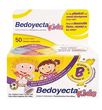 Bedoyecta Kids Dietary Suplement 50 Tab - Suplemento Multivitaminico para Ninos (Pack of 1)