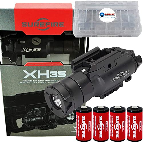 SureFire XH35 1000 Lumen Dual Output LED WeaponLight for Masterfire Holster Plus 4 Extra CR123 Batteries and Lightjunction Battery Box