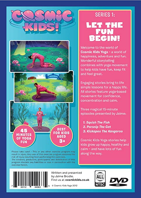 Amazon Com Cosmic Kids Yoga Series 1 Dvd Fun Yoga Adventures For Kids Aged 3 Jaime Amor Martin Amor Movies Tv