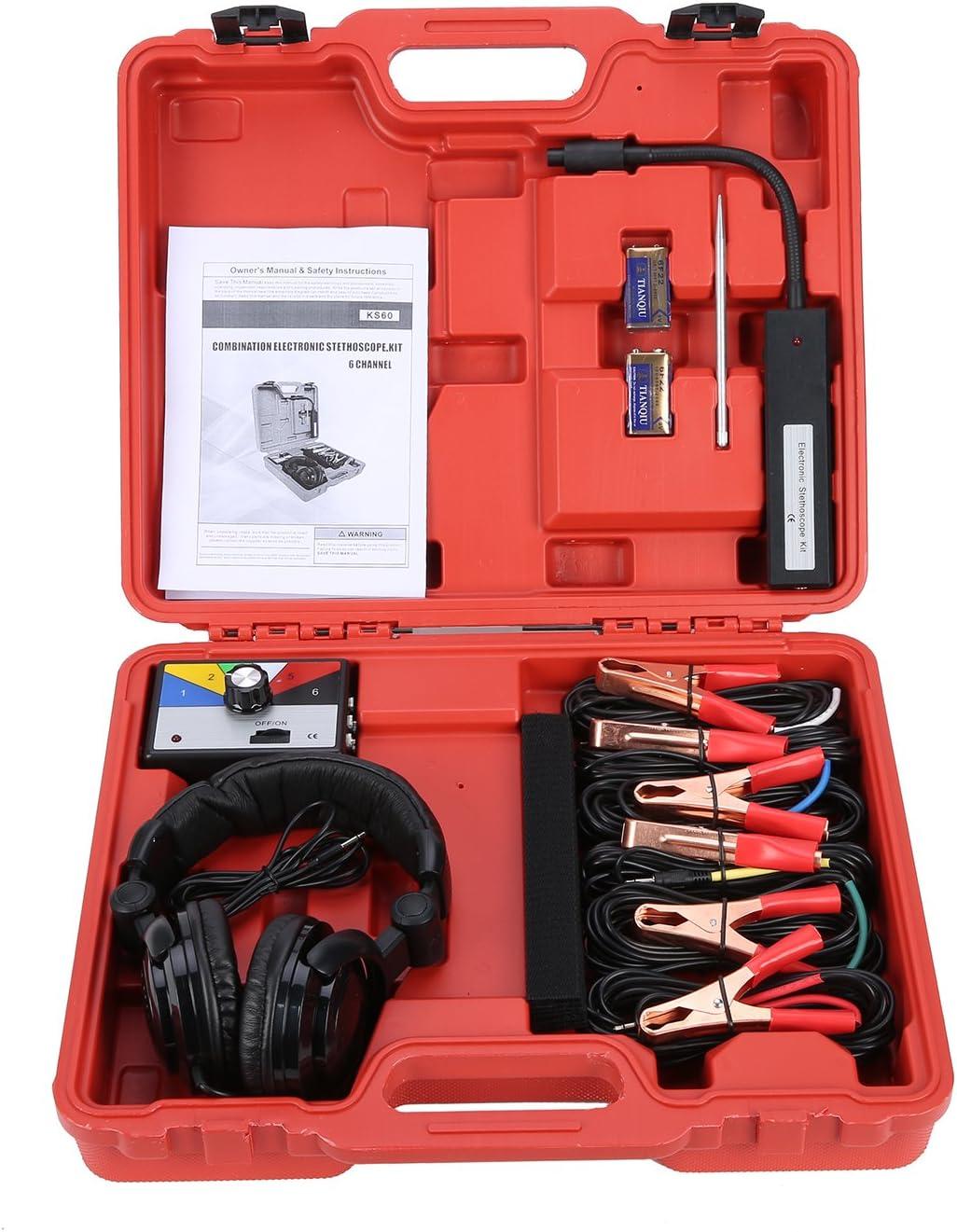 Electronic Stethoscope Kit Find Engine Noise Diagnoes Scope Tool Set