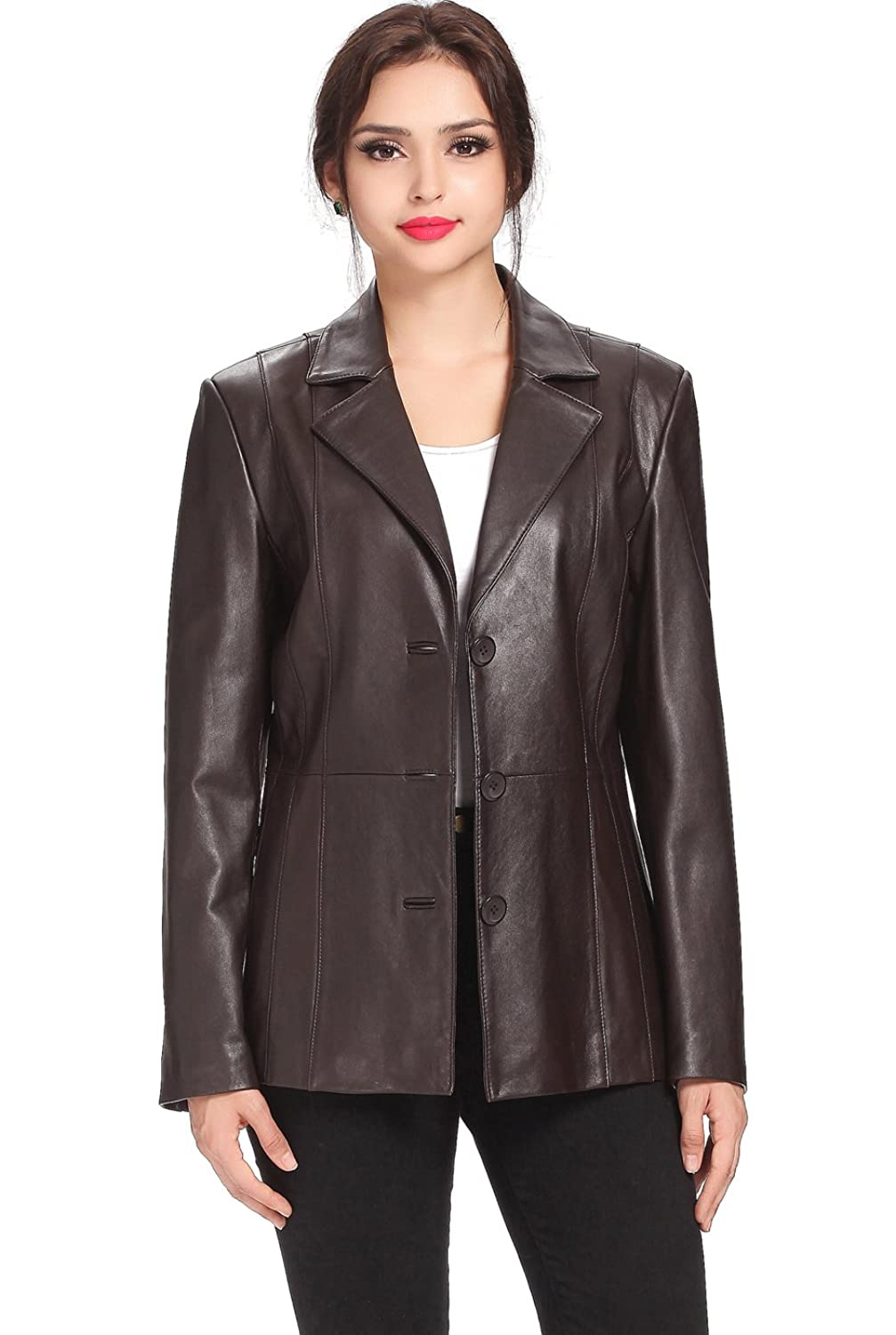 BGSD Women&39s &quotCrystal&quot MIssy &amp Plus Size New Zealand Lambskin