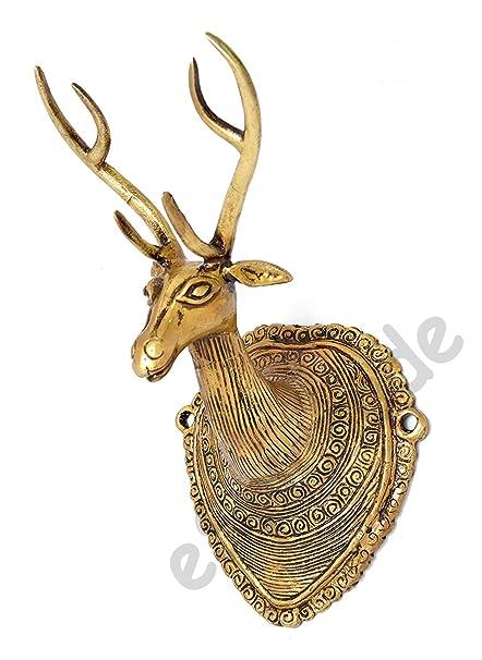 Amazon Com Esplanade Vintage Deer Head Brass Wall Hanging