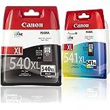 Canon Lot de 2 Cartouches d'encre compatibles avec Canon Pixma MG4140 MG4250 MG4150 Noir/couleurs Format XL