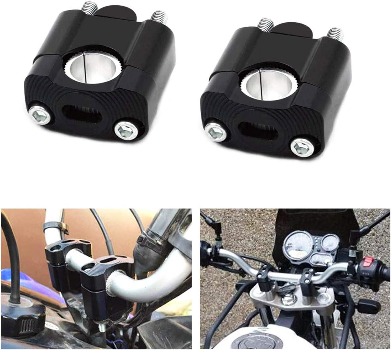 28mm Black 7//8 Universal Handlebars Clamp Riser Taper Dirt Bike Motocross MOTL Motorcycle Handlebar Risers for 1-1//8 22mm