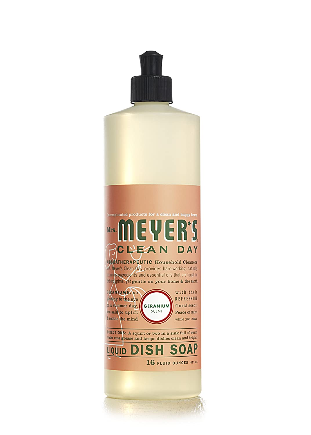 Mrs. Meyers Clean Day Liquid Dish Soap, Geranium, 16 Fluid Ounce by Mrs. Meyers Clean Day: Amazon.es: Salud y cuidado personal