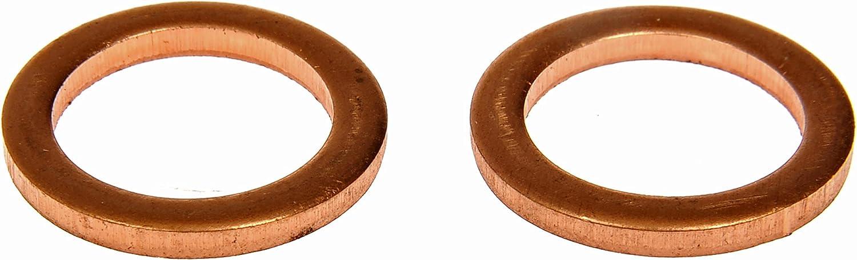 2 Pack 9//16 M14 S.O Dorman 095-010CD Copper Drain Plug Gasket for Select American Motors//Ford//Mercedes-Benz Models Fits .5 D.O
