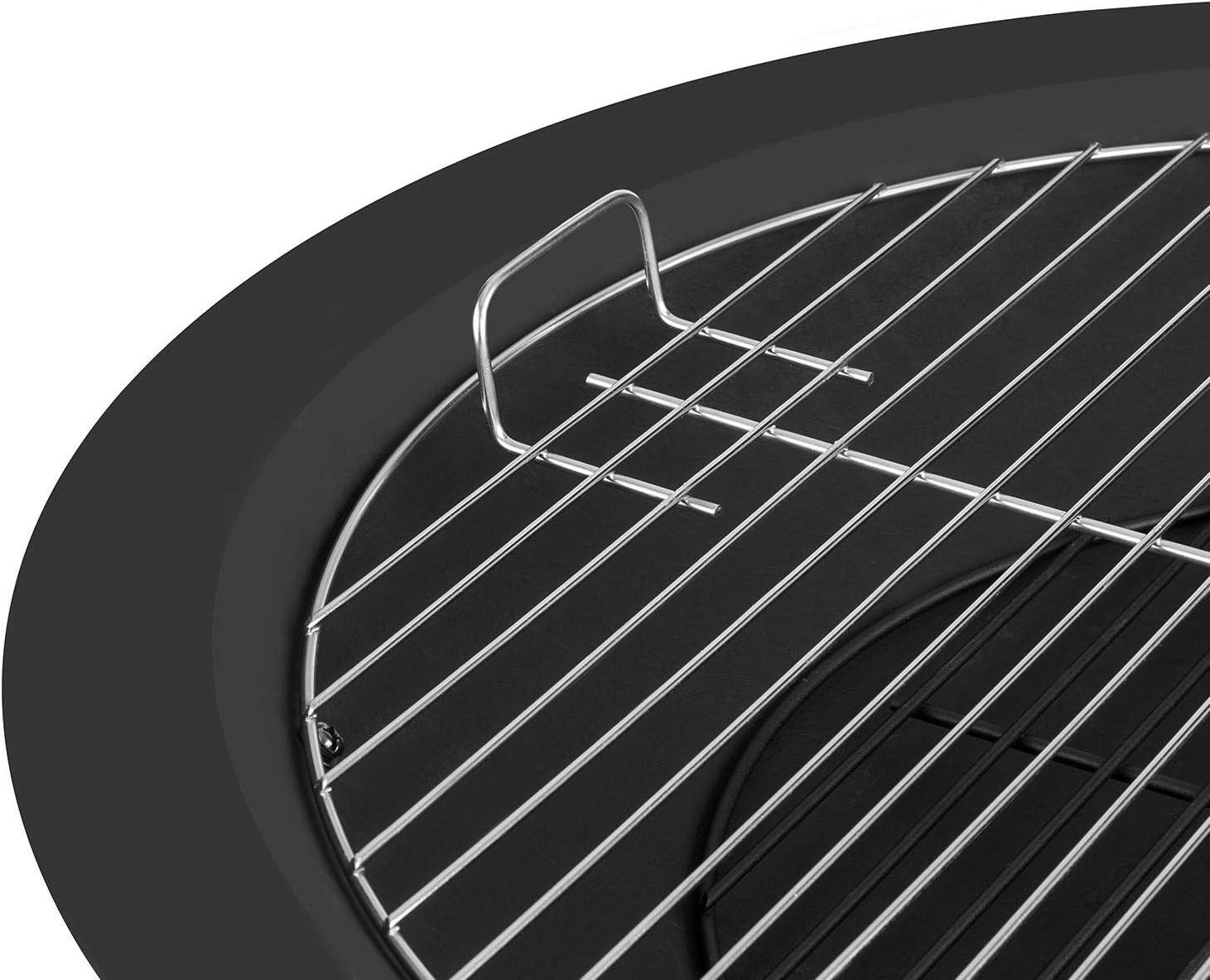 Feuerkorb ca Sch/ürhaken Gitternetz f/ür Funkenschutz Gartengrill Terassenofen br/ünierter Stahl antikes Design 75 x 60 cm 12,8 kg blumfeldt Mithras Graphitschwarz Feuerschale /ØxH