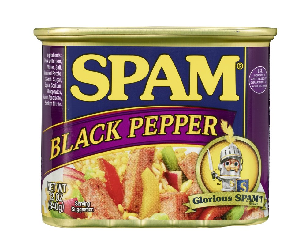 SPAM Black Pepper - Ham - Canned - Shelf Stable Protein - 12 Ounce
