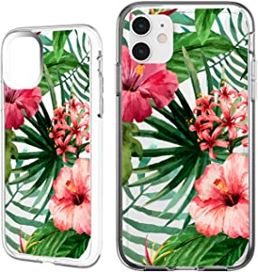Shark Compatible Summer Aloha Tropical Floral Coconut Tree Bahama Leaves Ultra Slim Rubber Silicone TPU Cover for iPhone 11 PRO