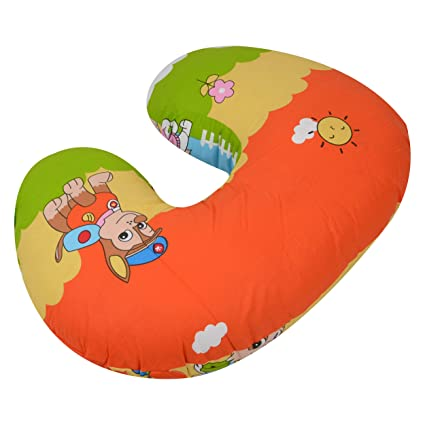 e7b7ec04f55 Buy Baby Grow Nursing Pillow with Slipcover Cotton Feeding Pillow and  Positioner with Baby Printed Slipcover Baby Feeding Pillow for Mother  (Green Lovely) ...
