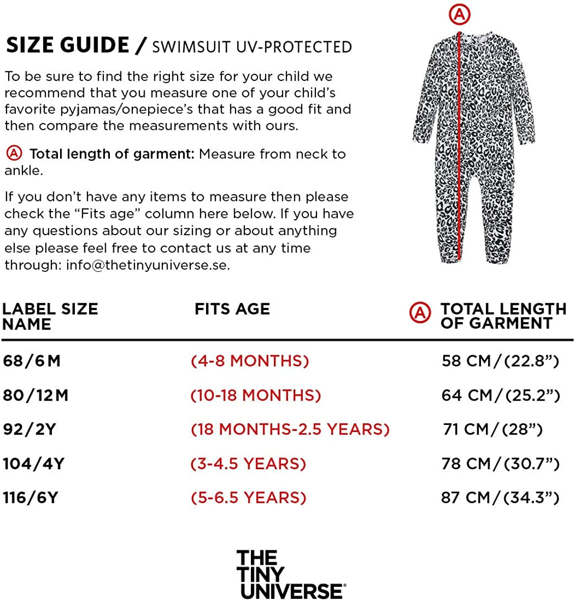Unisex Baby Boys and Girls UPF 50+ Swimsuit Long Sleeve Snow Leopard Snow Leopard, 68 // 6M The Tiny Universe UV Protection Sunsuit Rash Guard