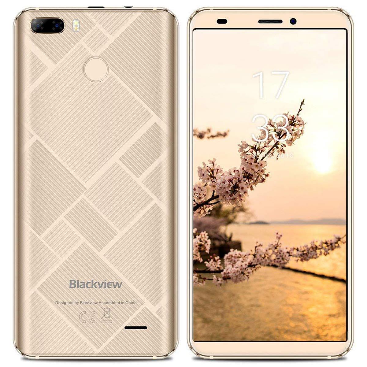 "Blackview S6 - Smartphone Libre de 5.7"" 18:9 HD (Octa Core 2GB RAM + 16GB ROM, Cámaras Dobles Traseras de 8MP+0.3MP, Android 7.0, Batería 4180mAh, ..."