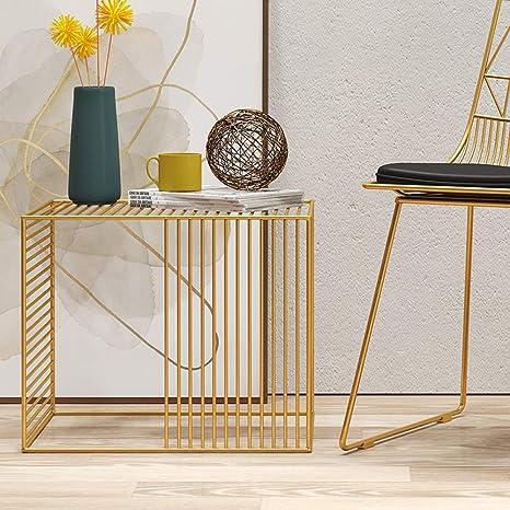 Amazon.com: HANSHAN Side Table Corner Table, Metal Square Living Room Minimalist Sofa Side Table, Mobile Small Coffee Table Bedroom Bedside Table 3 Colors ...