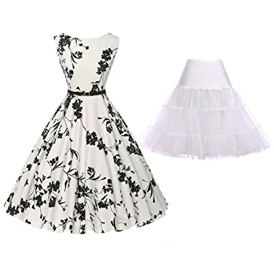 Grace Karin Women S Sleeveless Vintage Swing Dress With Petticoat At