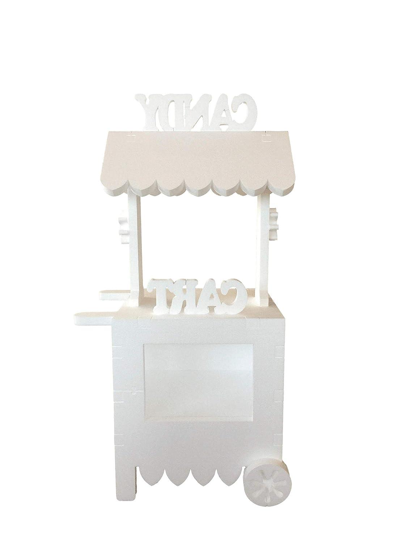 CARRITO DE CHUCHES Candy Cart Happy Birthday. para Decorar ,Reutilizable, Medidas 132CMS(Alto) X56CMS(Ancho) X47CMS(Fondo) Fabricado en Material XPS ...