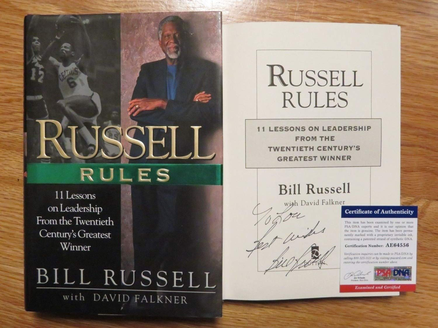 Bill Russell Autographed Signed Russell Rules 1St Ed 2001 Book Memorabilia PSA/DNA Boston Celtics Lou