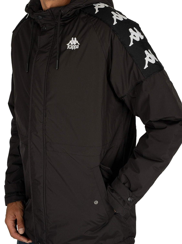 Black Kappa Mens Banda 10 Marleta Puffer Jacket