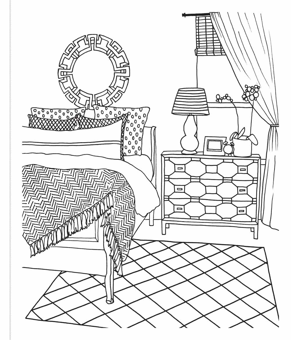 Adult coloring book the inspired room interior design coloring book - Buy The Inspired Room Coloring Book Creative Spaces To Decorate As You Dream Book Online At Low Prices In India The Inspired Room Coloring Book Creative