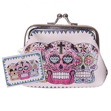 Monedero, diseño de calaveras de apertura Muertos mexicanos ...
