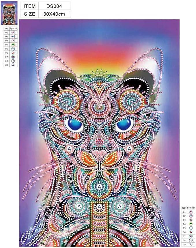 WOBANG 5d - Kit de Pintura de Diamantes para Hacer uno Mismo, diseño de Tigre y águila, Adhesivo Hecho a Mano con Juegos Digitales, Punto de Cruz, decoración de Pared: Amazon.es: Juguetes