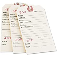 Avery Repair Tags, Strung, Manila, 5.25 x 2.625 Inches, Pack of 500 (15030)