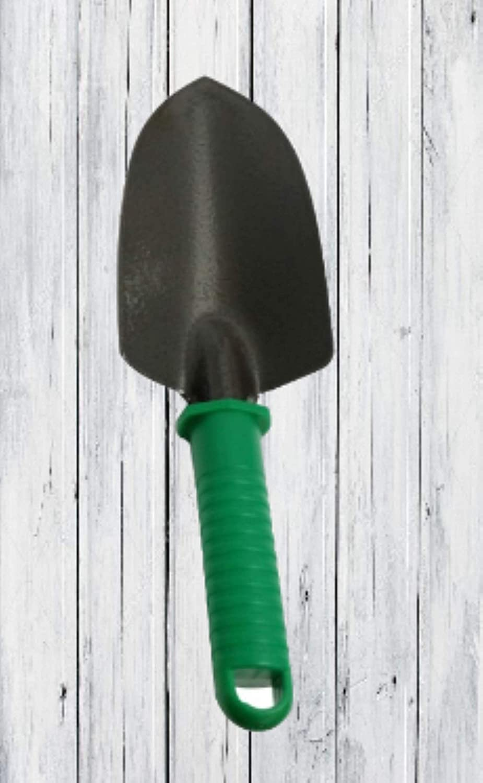 Garden Tool 3 Piece Set Including Cultivator Transplanter Trowel Carbon Steel Head