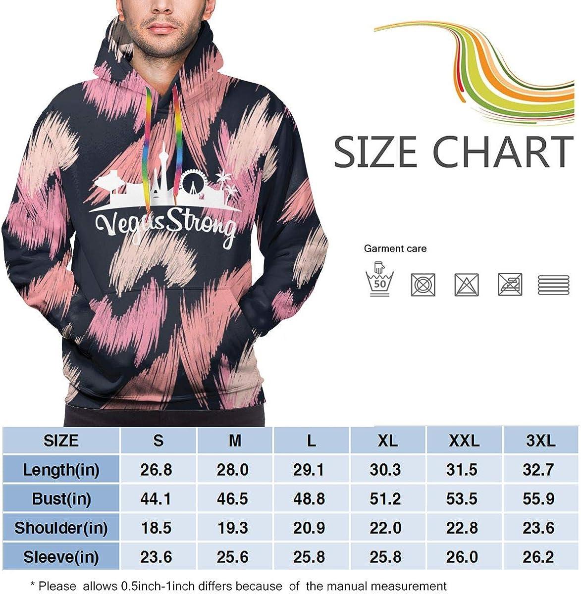 Vegas Strong Mens Casual Lightweight Hoodies Pullover Hooded Shirts Winter Sweatshirt