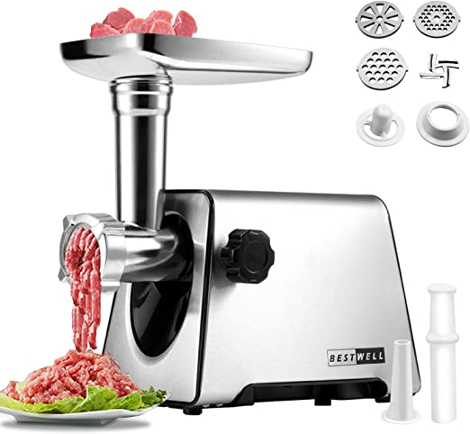 Electric Meat Grinder, 350W [2800W Max] for Home Kitchen & Commercial Using.