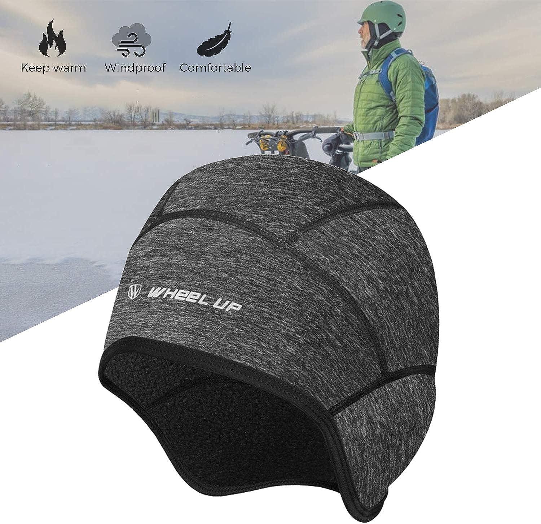 Wheel up Winter Cycling Fleece Thermal Cap Windproof Hat /& Earmuffs Out Sport