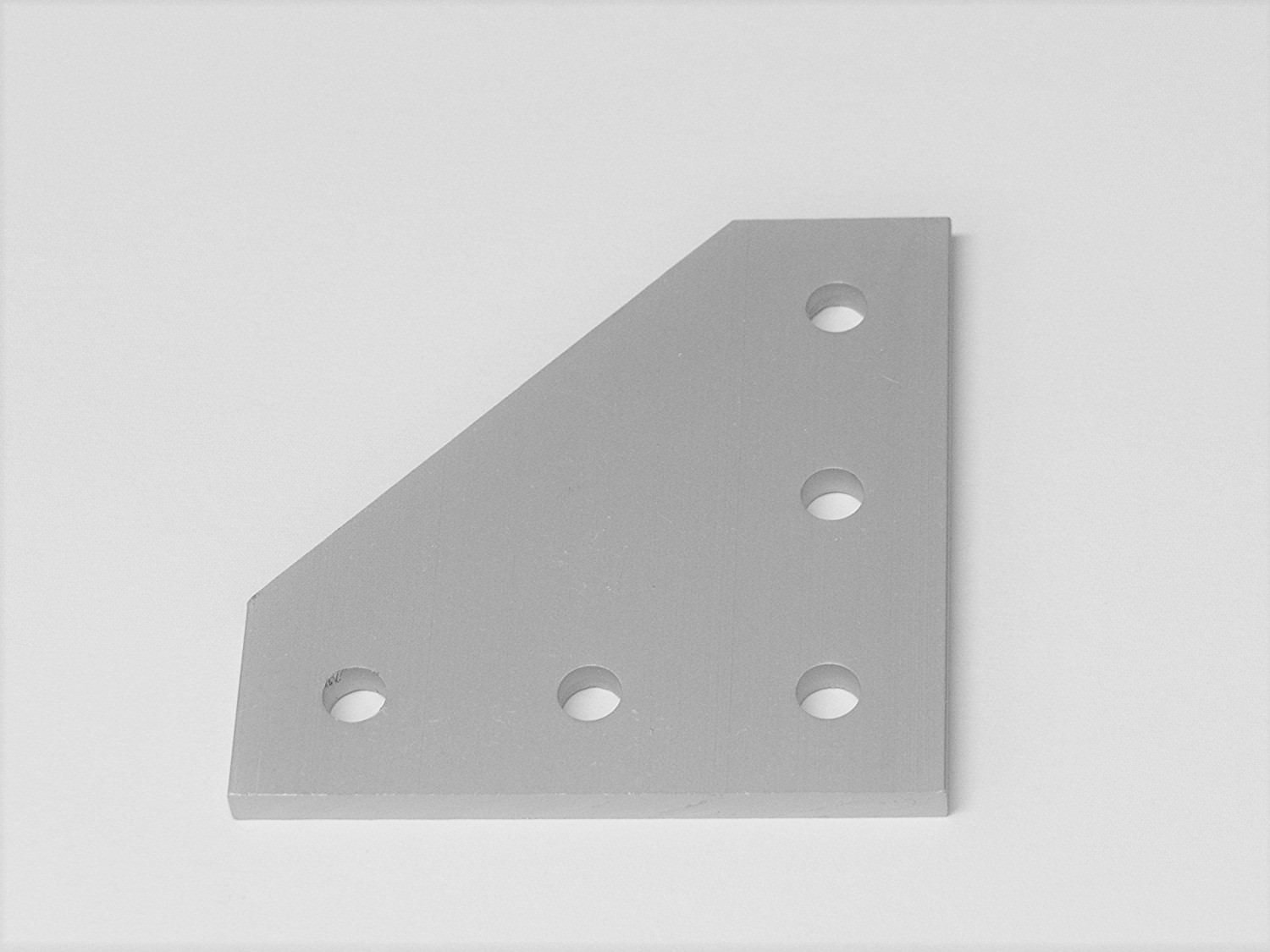 5-Hole 90 Degree Joining Plate (12 Pack), Aluminum, Corner, Angle, Bracket, Joint for 2020, 20 Series T Slot Extrusion Assembly