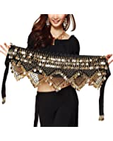 Pilot-trade Women's Sweet Bellydance Hip Scarf With Gold Coins Skirts Wrap Noisy