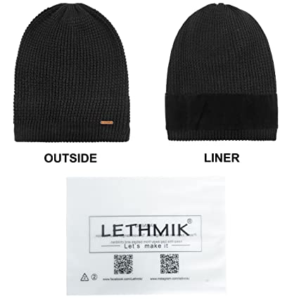 03b6d4386f9 LETHMIK Merino Wool Slouchy Beanie