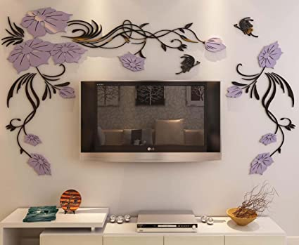 Amazoncom Hermione Baby 3d Flower and Vine Wall Murals for Living