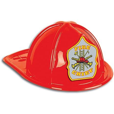 Casco Pompiere rosso Adulto  Amazon.it  Giochi e giocattoli a4bf4f116b70