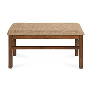 @home by Nilkamal Jewel FIDBJEWELBNCH4SWLT Dining Bench (Walnut)