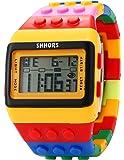 SHHORS Reloj LED, colores del arcoiris, creativo, pulsera de silicona, LCD, deportivo, pulsera grande–hombre mujer y niño - LED091