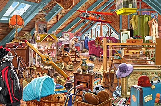 Amazon.com: Posterazzi The Cluttered Attic Poster Print by Steve ...