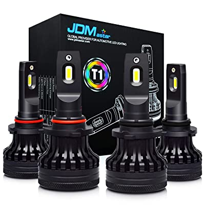 JDM ASTAR T1 9005 High Beam 9006 Low Beam Combo All-in-One White Upgrade Vision LED Headlight Bulbs: Automotive