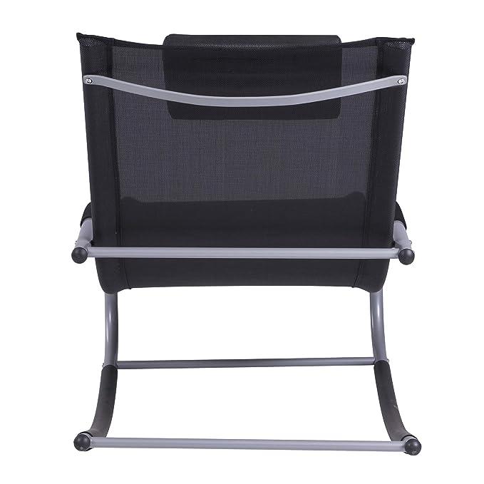 Amazon.com: Outsunny Chaise Rocker - Sillón reclinable con ...