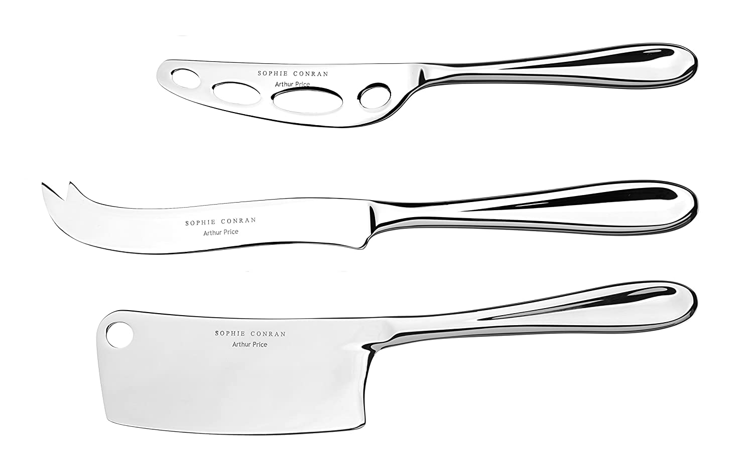 Sophie Conran 3-Piece Rivelin Cheese Knives Set Arthur Price ZSCR0733