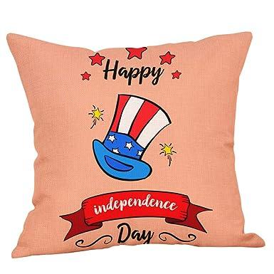Amazon.com: OrchidAmor 1Pcs Decor Cushion Cover Independence ...