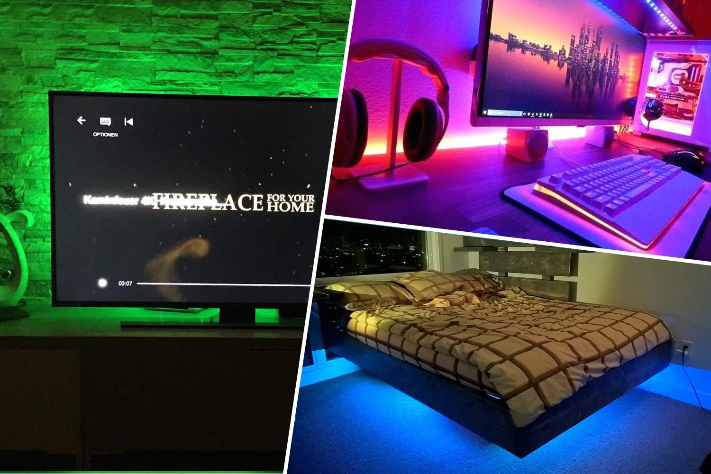 LED TV Backlight,ViLSOM Powered USB LED Strip Lights 6.56Ft for 40 to 60 Inch HDTV - Bias Lighting with 24keys Romote Control RGB Lighting by ViLSOM (Image #3)