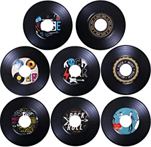 40Pcs Record Cutout 1950's Rock and Roll Music Party Decorations Record Wall Decor Signs for 50's Theme Party Decor Music Party Supplies