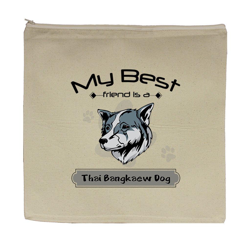 Canvas Zipper Pouch Bag 5.5''X7.5'' My Best Friend Is Thai Bangkaew Dogdog by Style in Print