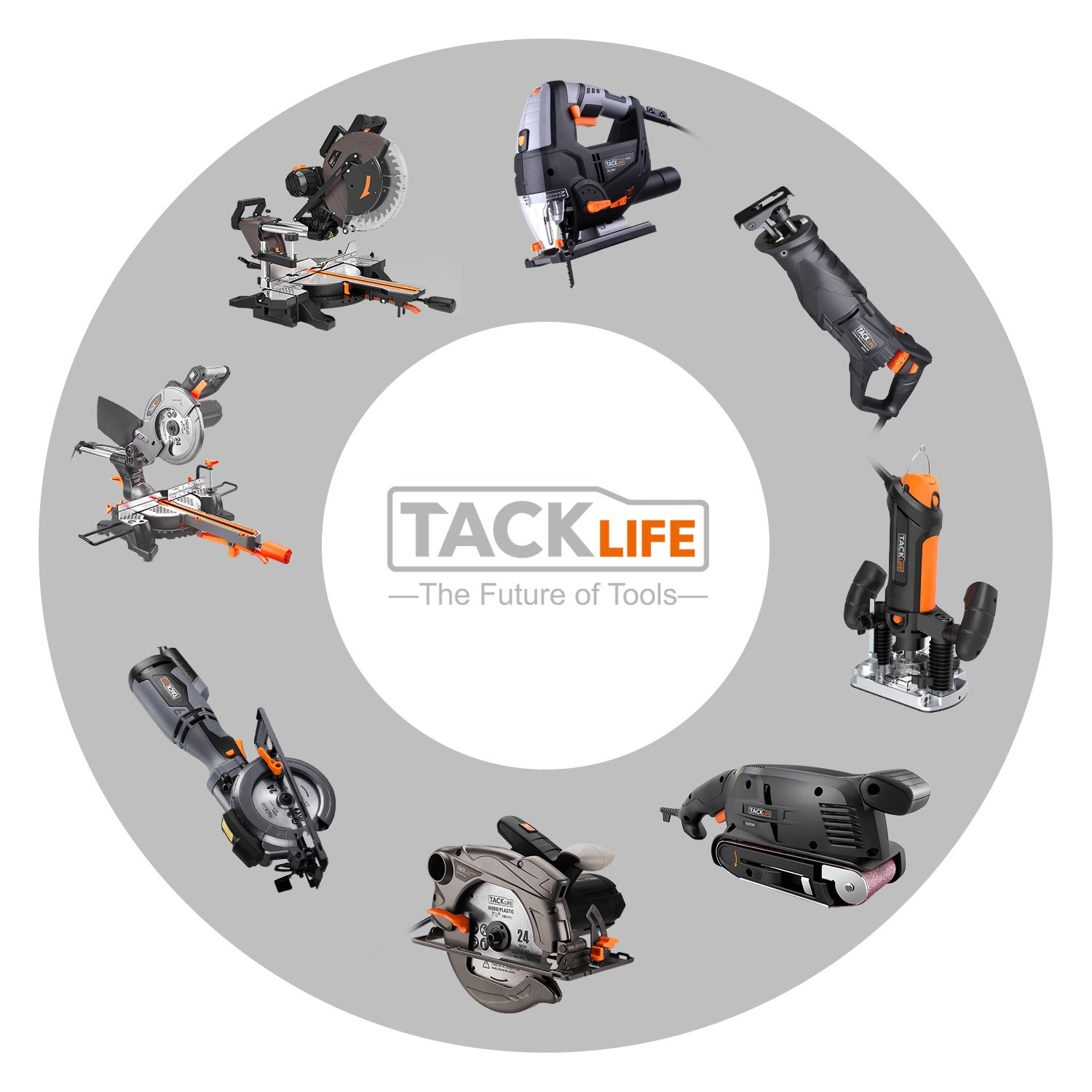 Mouse Detail Sander with 12Pcs Sanderpaper, 12000 OPM Sander with Dust Collection System For Tight Spaces Sanding in Home Decoration, DIY by TACKLIFE (Image #9)