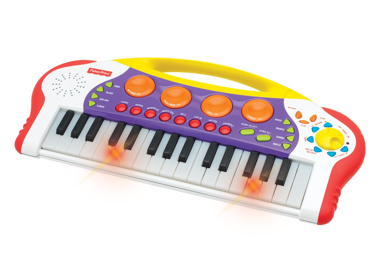 Fisher-Price Music - Keyboard/Piano - Teaching Keys Keyboard - Record and Playback - Learn to Play Piano